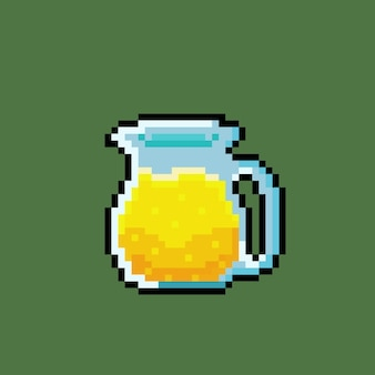 Syrup in teapot with pixel art style