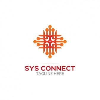 Sysがロゴを接続します