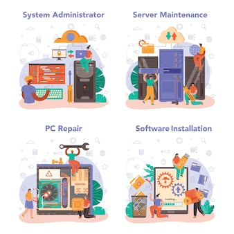 System administrator set. technical work with server and its work maintaining