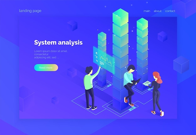 System analysis a group of people interact with the data system and receive statistical information