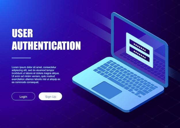 System of authentication template