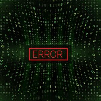 System error digital numbers background.