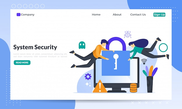 System security flat concept