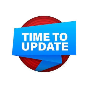 System software update or upgrade ribbon. banner new update. time to update. vector illustration.