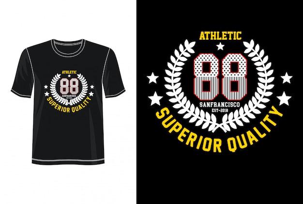プリントtシャツのathletic 88タイポグラフィ