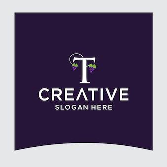 Tブドウのロゴデザイン