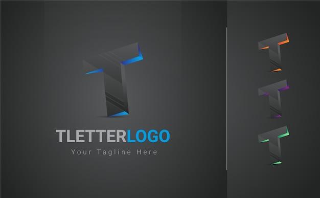 T letter 3d logo