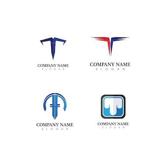 T письмо, t логотип вектор шрифт алфавит дизайн и значок t