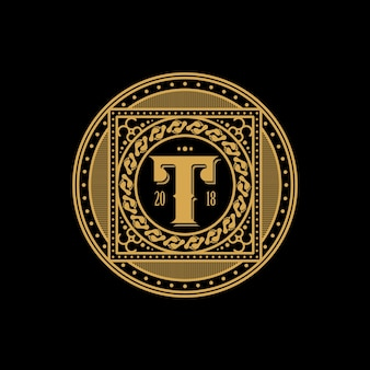 T logo and foot abstract