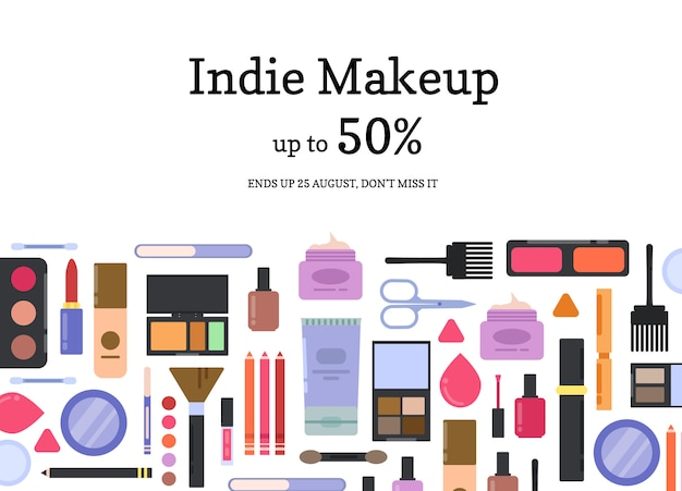 T makeup and skincare sale background