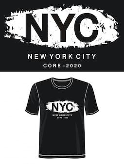 プリントtシャツのnycタイポグラフィ