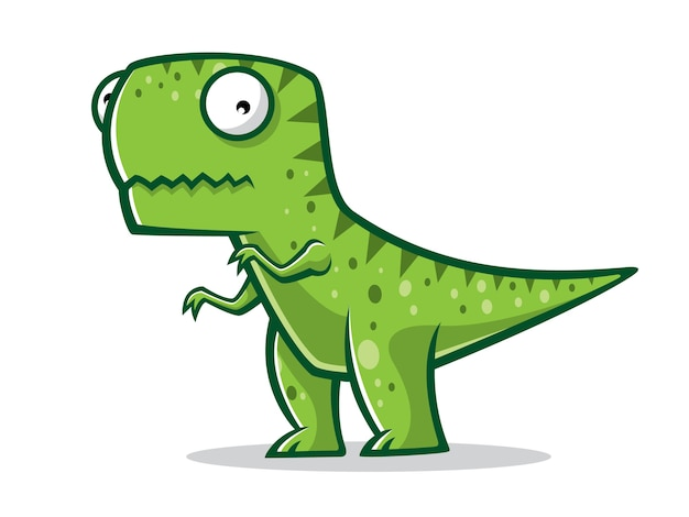 漫画のt-rexは2本の足で立っていた