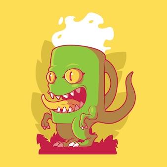 ティラノサウルスのコーヒーカップのキャラクター動物面白い