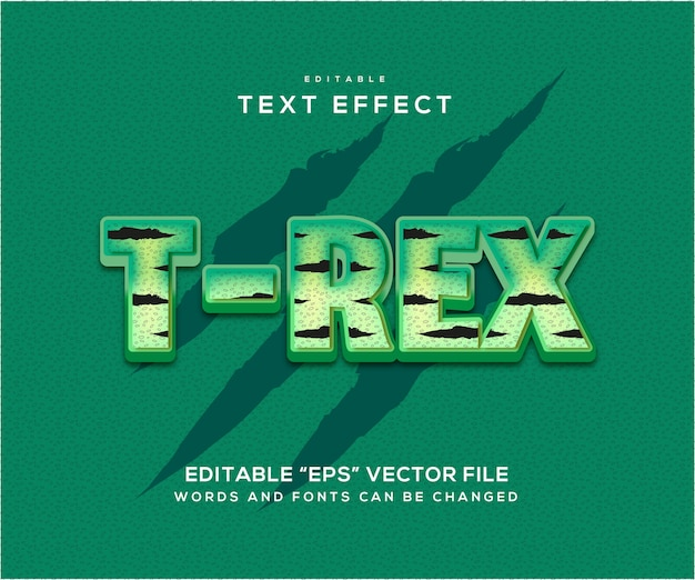 T rex text effect style