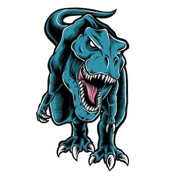 T-rexのベクトルのロゴ Premiumベクター