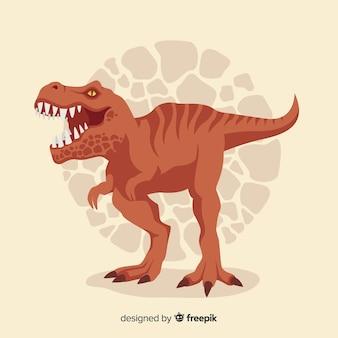 Плоский фон t-rex
