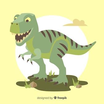 Ручной обращается фон t-rex