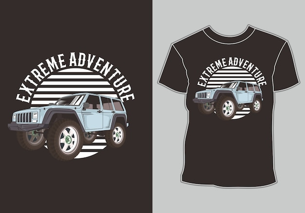 T shirt  adventure car