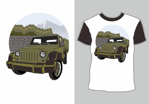 T-shirt adventure car
