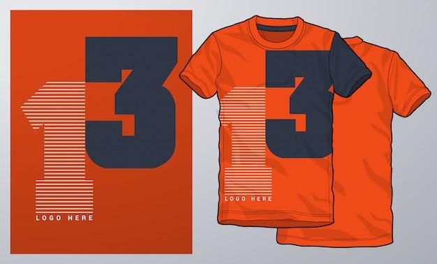 Tシャツ、アパレル、モダンデザイン、タイポグラフィー。