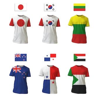 T-shirt collection flag design