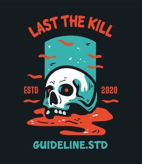 T-shirt design character skull paradise vintage