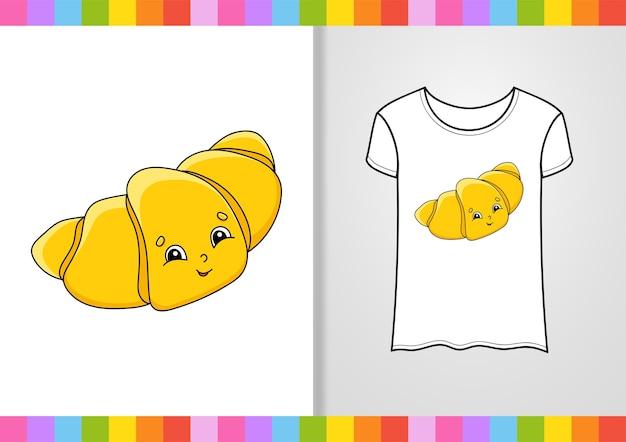 Дизайн футболки. милый персонаж на рубашке.