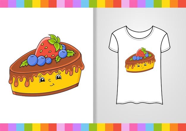 T-shirt design. cute character on shirt.