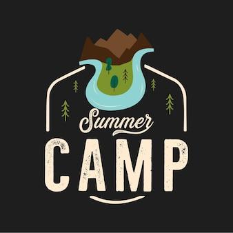 Дизайн футболки для летнего лагеря