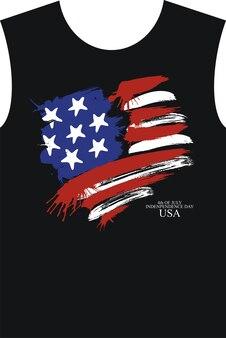 Tシャツデザイン。アメリカの4月7日の幸せな独立記念日。