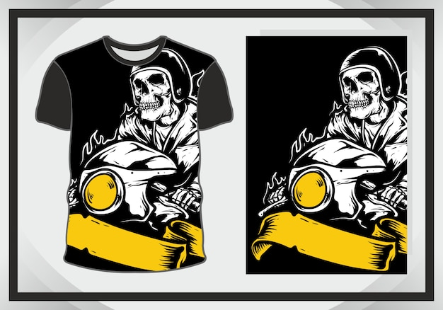 T shirt design head skull face, isolated, fully editable