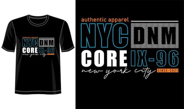 Tシャツデザインニューヨーク市レタリングタイポグラフィ