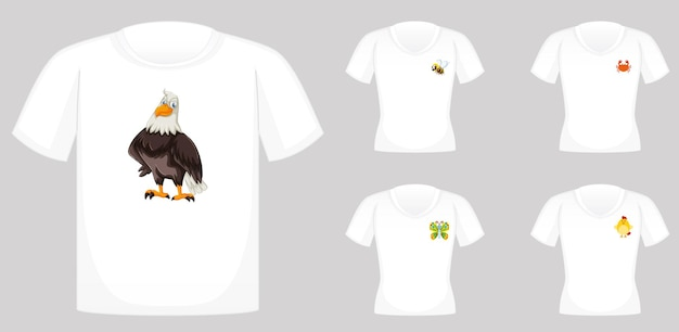 動物のグラフィックを使ったtシャツのデザイン