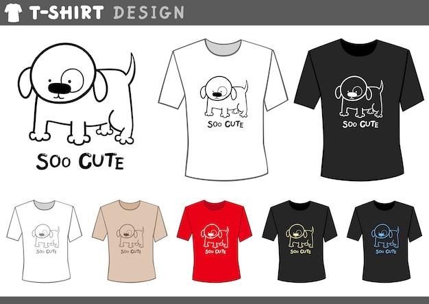 かわいい犬とtシャツのデザイン