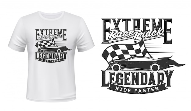 T-shirt design with extreme race