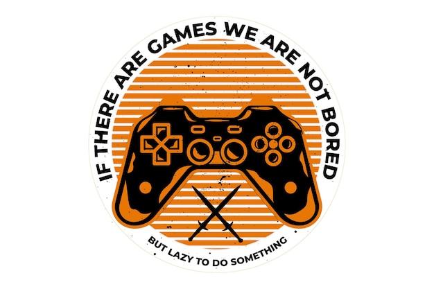 레트로 빈티지 스타일의 게임 콘솔이있는 티셔츠 디자인