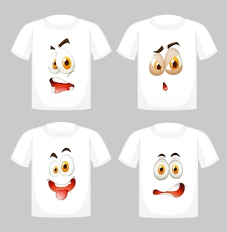 T-shirt design with graphic in front