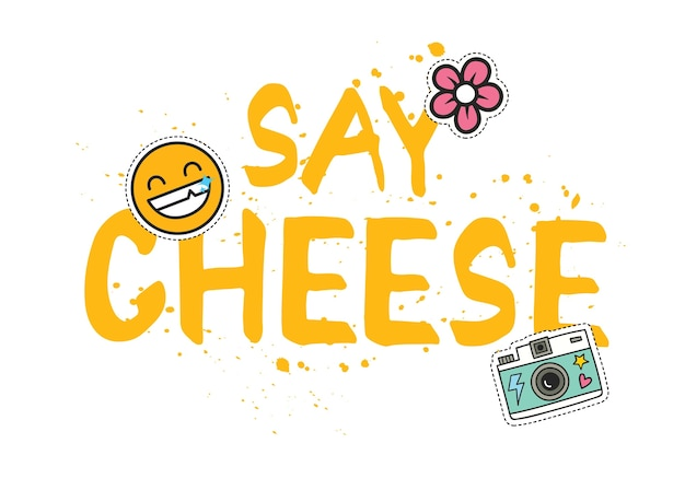 T-shirt design with patches