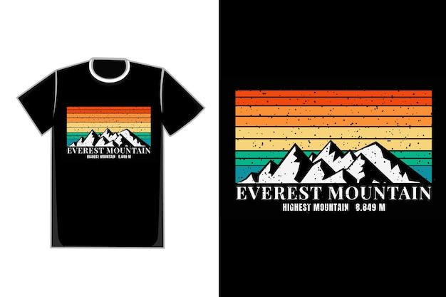 T-shirt everest mountain highest mountain 8.849m