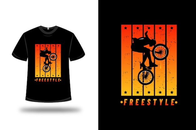 T-shirt freestyle color orange and yellow