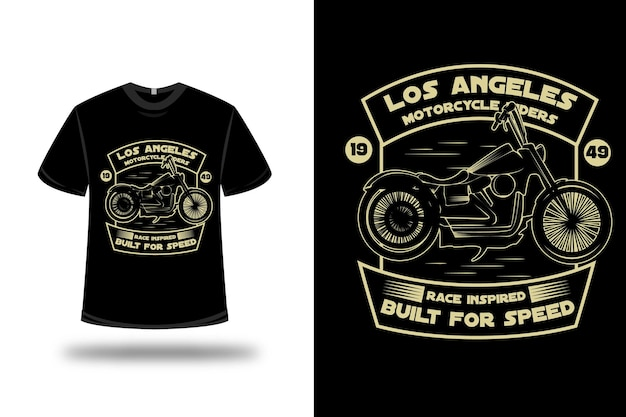 T-shirt harley motorcycle riders rice inspired build for speed color yellow