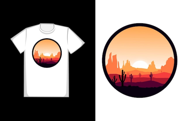 T-shirt hot deserts and rocks