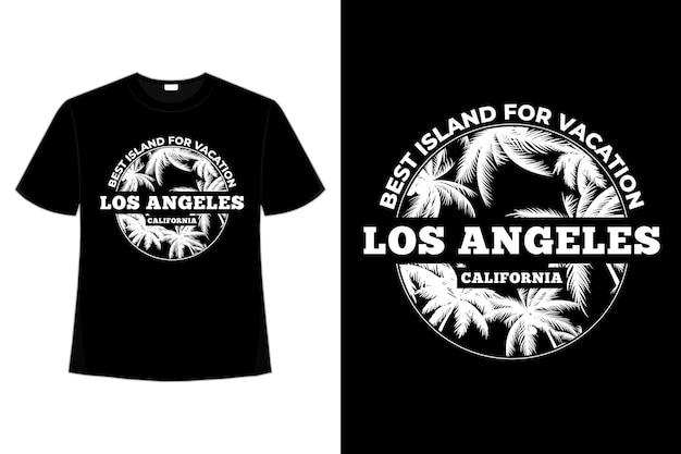 T-셔츠 아일랜드 휴가 캘리포니아 빈티지