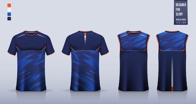 Макет футболки, дизайн шаблона спортивной рубашки для футбольной майки