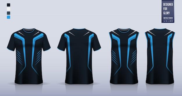 Tシャツのモックアップ、サッカージャージのスポーツシャツテンプレートデザイン