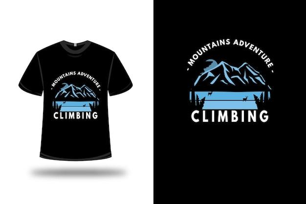 T-shirt mountain adventure climbing color blue