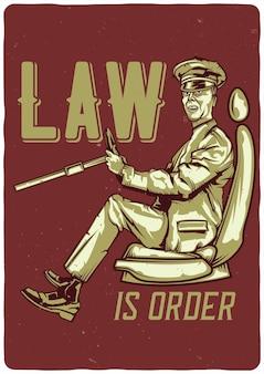드라이버의 일러스트와 함께 티셔츠 또는 포스터