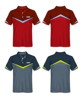 T-shirt polo design, sport jersey template.
