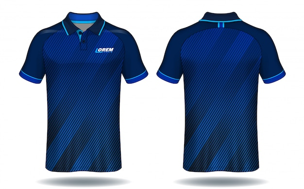 T-shirt polo design, sport jersey template.
