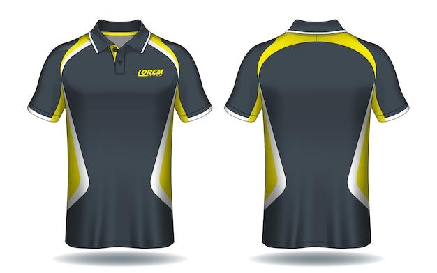 Дизайн футболки поло, шаблон спортивного трикотажа.